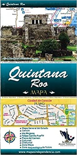 Map Of Spain Distances Between Cities.Quintana Roo State Chetumal City Map By Ediciones Independencia