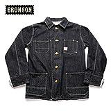 Bronson 40'S Men's Unbleached Denim Red Ears Four Pocket Slevage Railroad Coveralls Jacket (L)