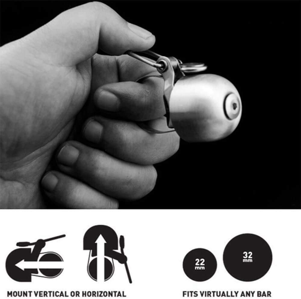 MLXG Classical Ring Horn Stainless Steel Bicycle Bell Bike Sound Handlebar Safety Bike Sport Alarm Bell Bicycle Accessories