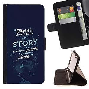 BullDog Case - FOR/Samsung Galaxy S4 Mini i9190 / - / STORY FAIRYTALE SCI FY MYSTERY OCEAN /- Monedero de cuero de la PU Llevar cubierta de la caja con el ID Credit Card Slots Flip funda de cuer