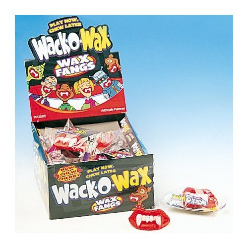 Wack-o-Wax Wax Fangs (Pack of 24) -