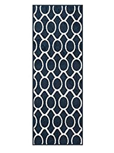 Loloi Rugs TERCHTC20NVIV300R Terrace Collection Area Rug, Navy/Ivory, 3' x 3'