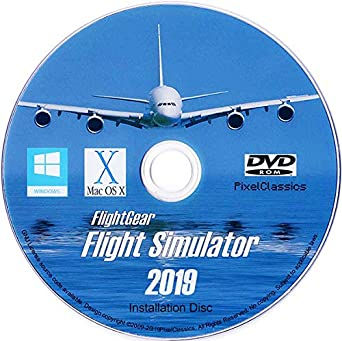 Flight Simulator 2019 X Flight Sim Plane & Helicopter FlightGear Including  500+ Aircraft DVD CD Disc For Microsoft Windows 10 8 7 Vista PC & Mac OS X