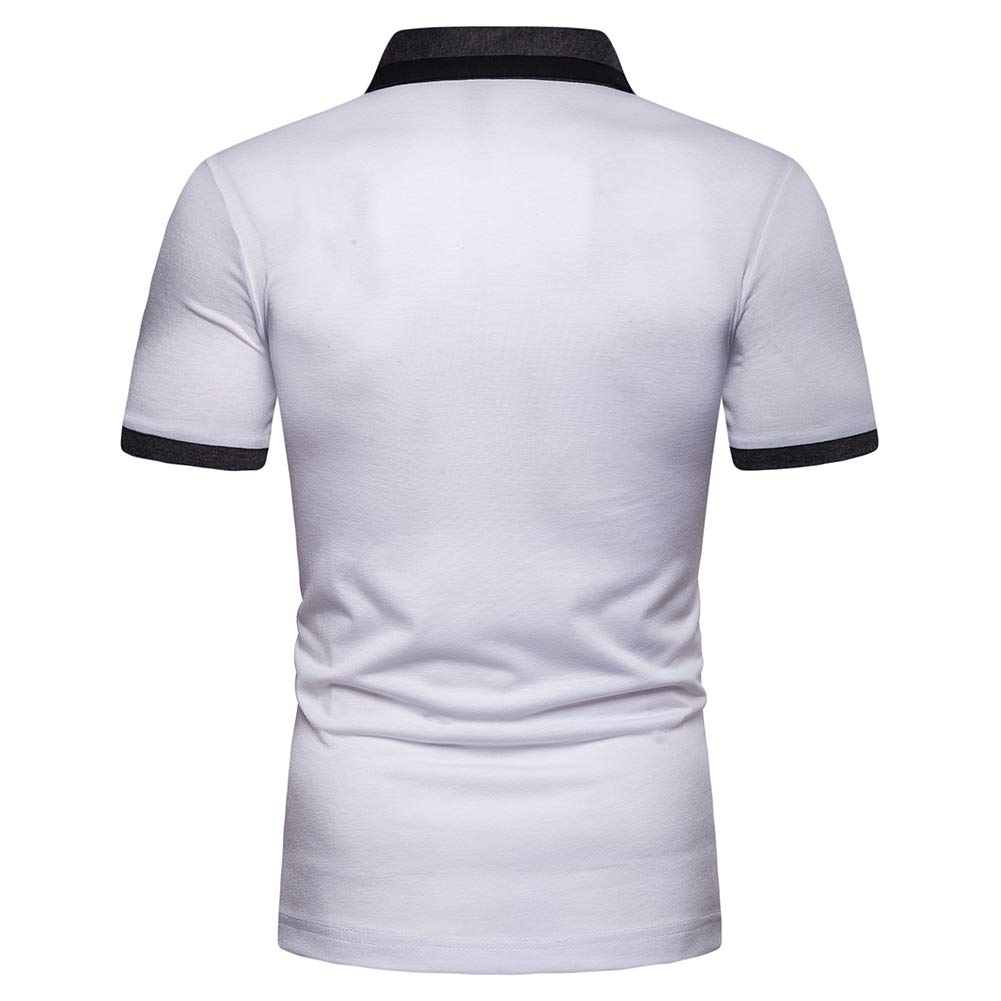 ,B,XXL Mens Casual Slim Fit Polo T-Shirts S-XXL