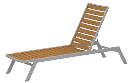 Amazon.com: polywood ac1fasnt Euro chaise, Textured Plata ...