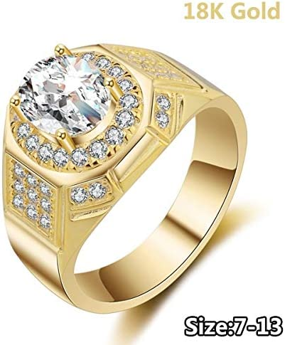 Amazon Com Digital Baby Jewelry 18k Gold Rings For Men Aaa Cubic
