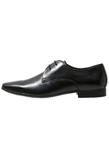 7e3d7e83ae14 PIER ONE Chaussures de Ville pour Hommes élégantes à Lacets Cognac Noir
