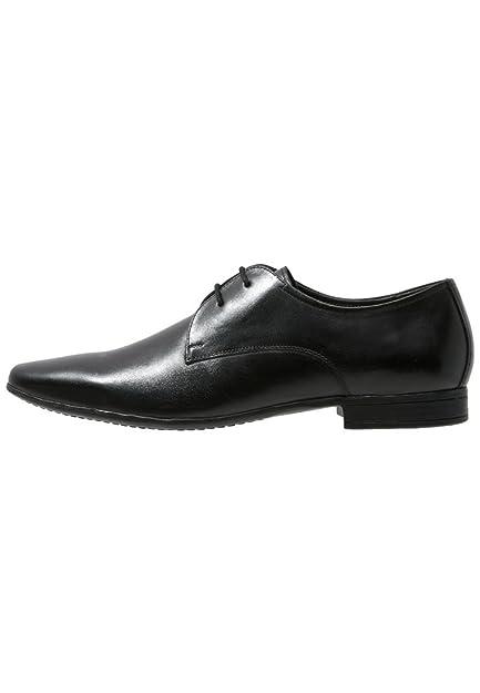Jetée Un Cuir Chaussures Oxford En Noir - Noir 1w3wP