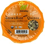 quinoa with brown rice - Minsley Organic Cooked Brown Rice with Quinoa Cup, 4.2 Ounce (Pack of 12)