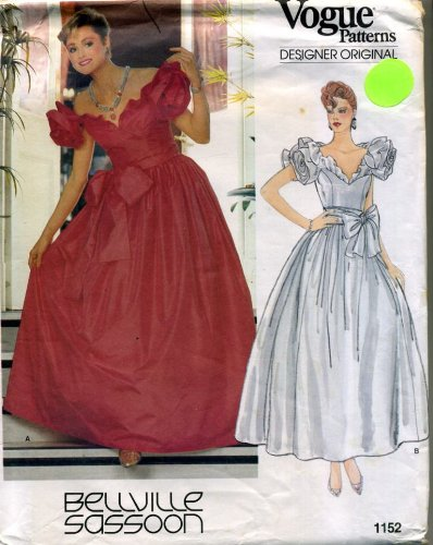 Vogue Patterns Designer Originals Formal Prom Evening Dress Sewing Pattern #1152