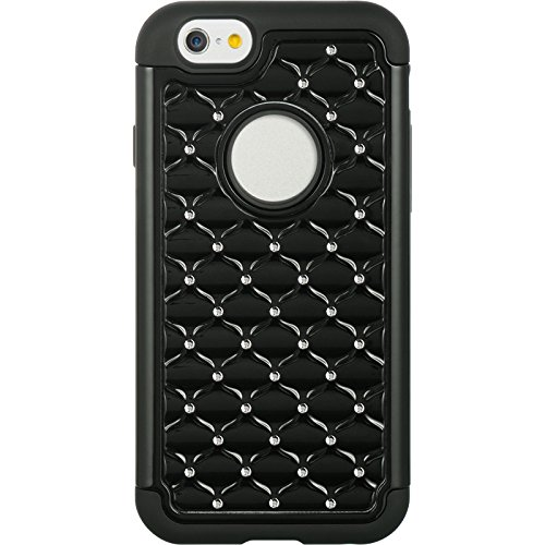 Dream Wireless iPhone 6 Hybrid Studded Diamond Case – Retail Packaging – Black