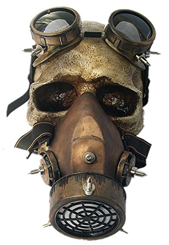 Qiu ping Men's and women's Halloween costume ball mask anime party props retro ()