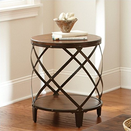 Steve Silver Company Winston Round End Table (Birch Cherry Accent Table)