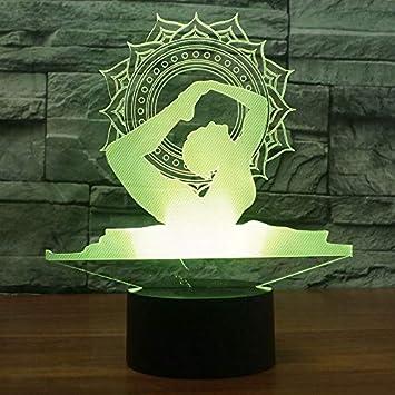 Amazon.com: QIANDONG1 - Lámpara de mesa con luz LED 3D para ...