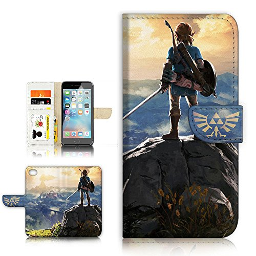 (for iPhone 5 5S / iPhone SE) Flip Wallet Style Case Cover, Shock Protection Design with Screen Protector - A31071 Legend of Zelda (Best Iphone 5s Cases For Protection And Style)