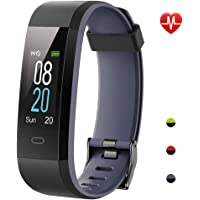 YAMAY Fitness Trackers,Colour Screen Activity Tracker Waterproof IP68 Fitness Watch with Heart Rate Monitor Smartwatch for Kids Women and Men Call SMS SNS Notification Push for Android Phone iPhone