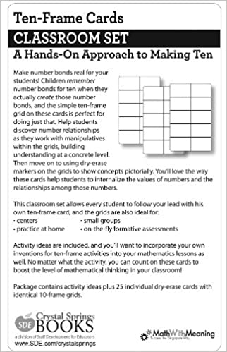 Amazon.in: Buy Ten Frame Cards Classroom Set Book Online at Low ...