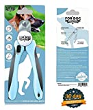 Dog Nail Clippers Trimmer by For Dog Premium Includes Nail File & Safety Guard Sharpest Pet Grooming Professional Non-Slip Handles - Perfect for Puppies and Cats