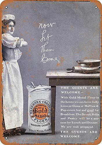 - YFULL 12 x 16 Metal Sign - 1910 Gold Medal Flour - Vintage Look Reproduction 3