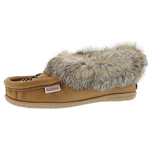 Cute SoftMoc Moccasin Beaded 4 Women's Rabbit Fur 1fwfH