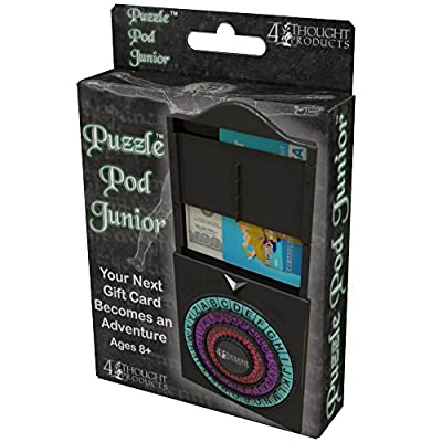 4Thought Products Puzzle Pod Junior - Gift Card Puzzle Box, Cash and Gift Card Holder, Brain Teaser Money Puzzle