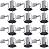 remodel can lights sloped ceiling sunco lighting 12 pack inch remodel led light can air tight ic housing recessed fixtures amazoncom