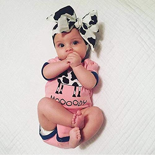 Cow Spots Black and White Fall Fabric Top Knot Big Bow Headband Head Wrap, One Size Fits All