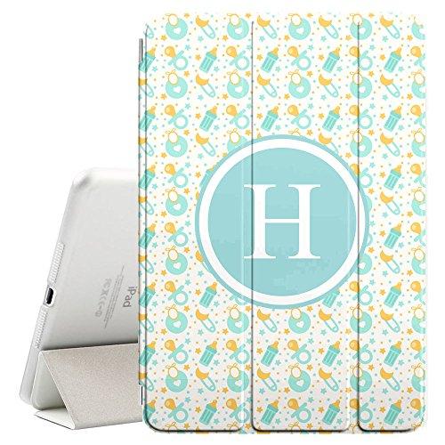 [H–Inicial] [Apple iPad Pro 32,8cm pulgadas] [Nombre Monogram Folio caso] con Auto Sleep/Wake Función [chupetes...