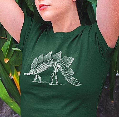 bdee58219 Amazon.com: Stegosaurus Skeleton Tshirt, Bones, Dinosaur T shirt ...