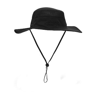 LAOWWO Mens Bucket Hat Fishing Sun Hat Foldable Summer Wide Brim Hat UPF50  Men Women 9e786941f3a