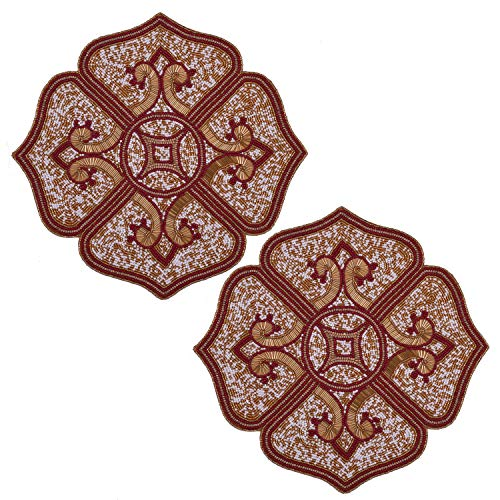 Decozen Embroidered Beaded Placemat 15