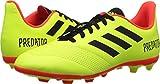 adidas Unisex-Kids Predator 18.4 Firm Ground Soccer Shoe, Solar Yellow/Black/Solar Red, 4 M US Big Kid