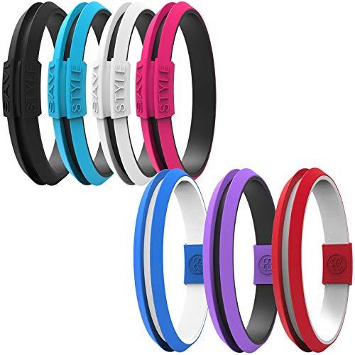 SAVI SLEEK Sportswear Hair Tie Bracelet - SAVI STYLE Original Colors (Small, Agile Black)