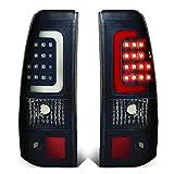 DNA Motoring TL-CSIL03-LED-3D-BK-SM Tail Brake Lights, Driver and Passenger Side