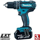 Makita DHP482BL1830 DHP482Z Combi Drill 18V Cordless LXT Li-ion with BL1830 3.0Ah Battery, 18 V, Blue, SMALL Set of 2 Pieces