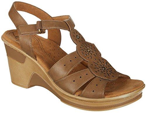 Naturalizer Womens Rynda Sandals 8.5 Taupe