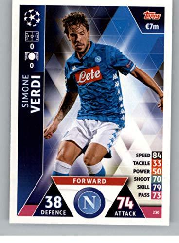 2018-19 Topps UEFA Champions League Match Attax #230 Simone Verdi SSC Napoli Official Futbol Soccer Card