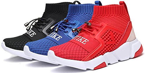 Corsa Sneaker 5 Casuali Ragazzi Outdoor Da Athletic Scarpe Ragazze rosso Su Slip BnApa8