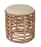 East at Main Layton Open Weave Round Stool, (18x18x20)
