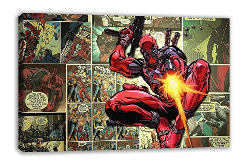 MARVEL DEADPOOL WADE WILSON SUPERHERO COMIC STRIP CANVAS WALL ART (30