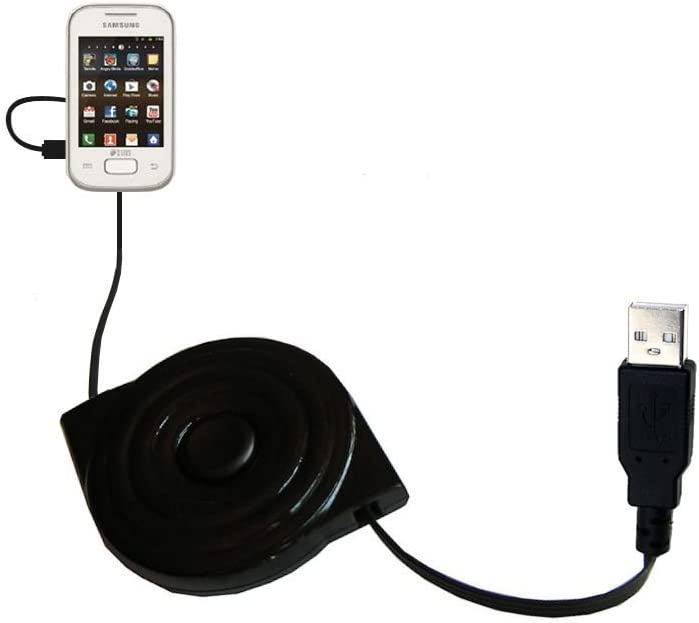USB Power Port Ready retractable USB charge USB cable wired specifically for the Samsung Duos Lite and uses TipExchange
