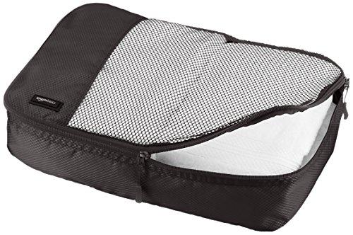 51XJeo3y8OL AmazonBasics Packing Cubes/Travel Pouch/Travel Organizer - Medium, Black (4-Piece Set)
