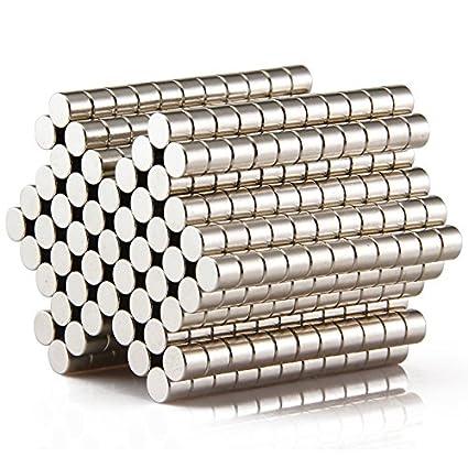 Sunkee 100pcs Pequeño y redondo imanes de disco de diámetro 5 mm x 4 mm de