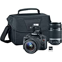 EOS Rebel SL1 18MP Camera, with 18-55mm Lens, 55-250 Lens, Carry Case, and 16GB SDHC Card