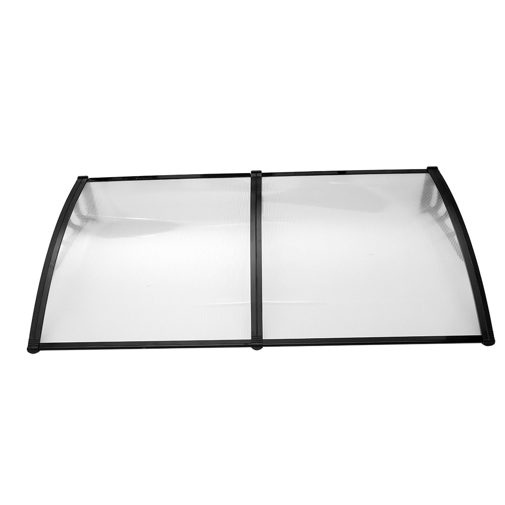 Yosoo Door Canopy Awning Rain Shelter Front Back Porch Shade Patio Roof Cover (190100, Black)