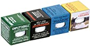 Loftus International Awesome Pack of 4 Assorted Trick Novelty Gag Golf Balls, Worlds Best Golf Tricks