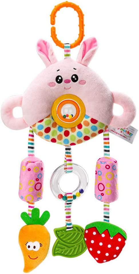 Lukame Rattle Plush Doll Toy Cartoon Baby Animal Stroller Bed ...