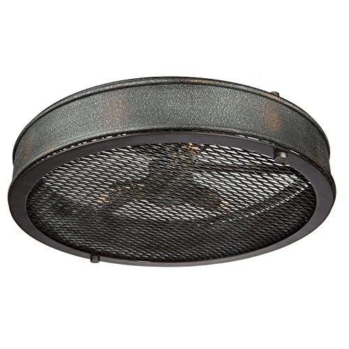 Riverside Ceiling Fan (Artcraft Lighting Artcraft AC10834GB Riverside 3-Light Semi Flush, Granite Black & Vintage Brass 3, Granite Black and Vintage Brass)