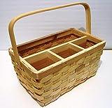 Wicker Utensil Caddy Picnic Basket