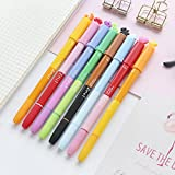 8 pcs Simple booms Bursh seal pen Dual-side writing color highlighter Gel pens Lovely Stamp marker Office School